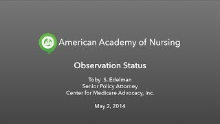 Admit to Observation Patients: Access, Cost, and Quality Concerns