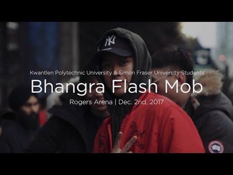 Bhangra Flash Mob - KPU & SFU Students - Rogers Arena Vancouver