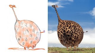 Детские Рисунки в Реальности Сборник Детям про Животных Recreate Kids Monster Doodles Lion boy