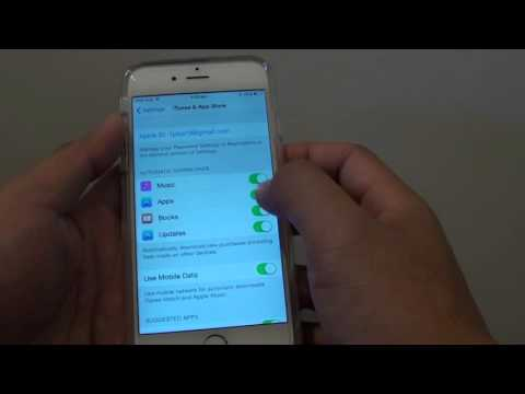 iPhone 6: How to Enable / Disable Automatic Download of Music / Apps / Books from iTunes or Appstore