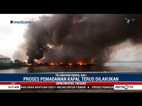 Puluhan Kapal Nelayan Di Bali Terbakar