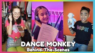 Dance Monkey Music Video - Behind The Scenes!   Mini Pop Kids