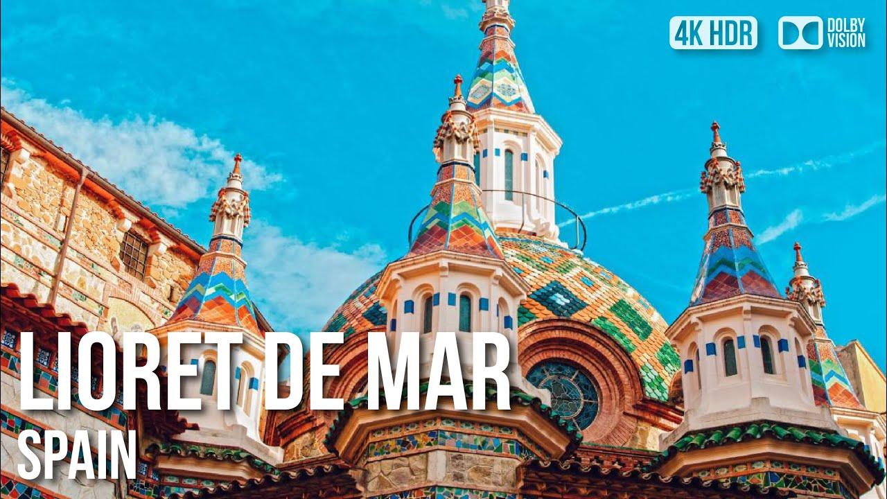 Lloret De Mar Town, Costa Brava - 🇪🇸 Spain - 4K Walking Tour