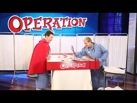 Benedict Cumberbatch Plays 'Operation'