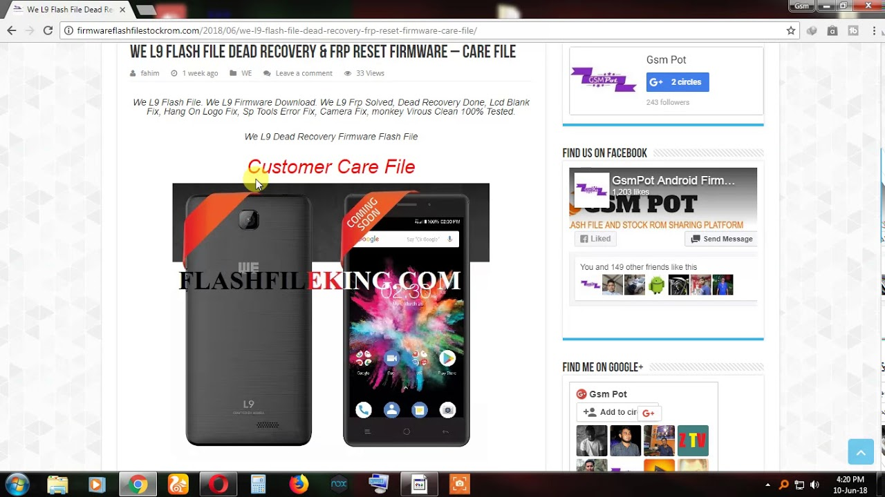 We L9 Dead Recovery & Frp Reset Flash File Firmware – Care File