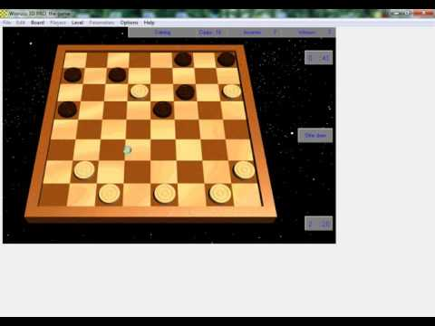 Русские шашки,  играю с компом