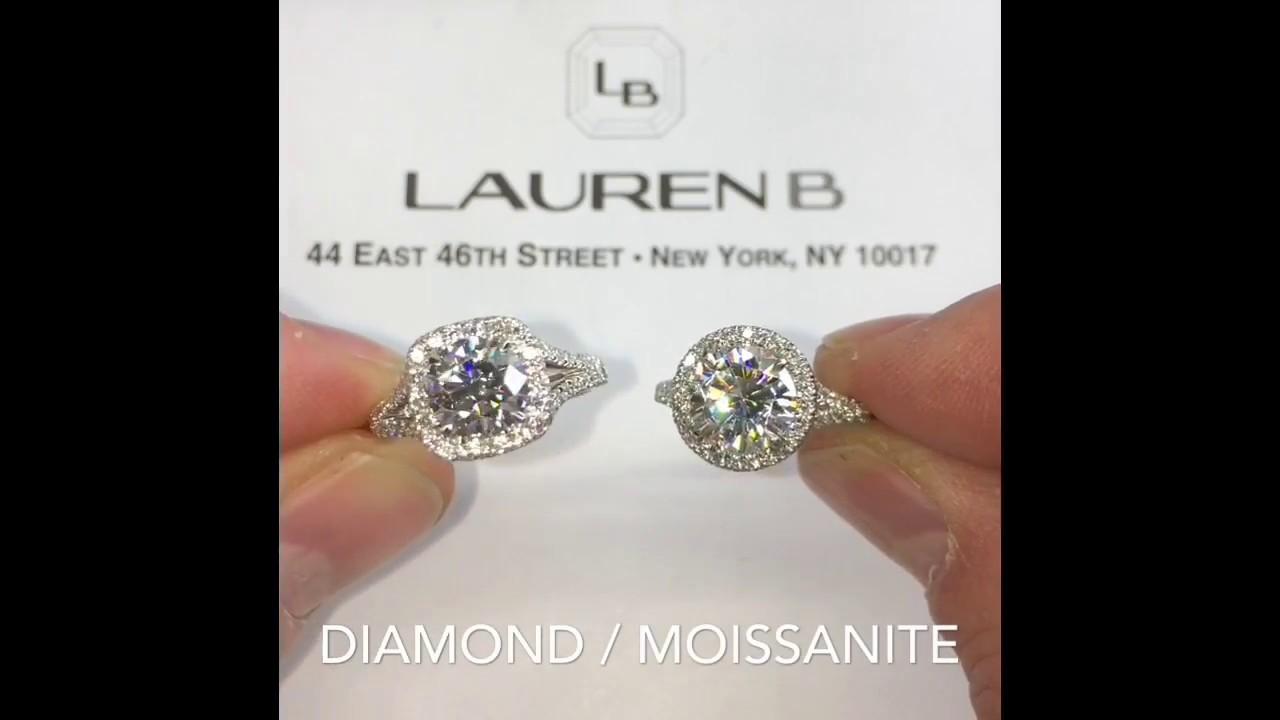 Round Moissanite vs Cushion Diamond Engagement Rings - YouTube