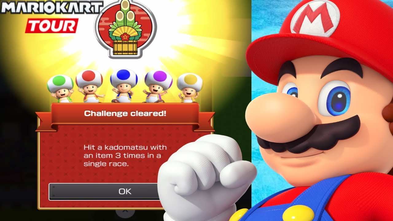 How To Hit 3 Kadomatsu Mario Kart Tour Challenges Ios Gameplay Walkthrough