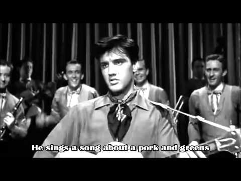 Elvis Presley - King Creole (movie scene with lyrics on the screen)