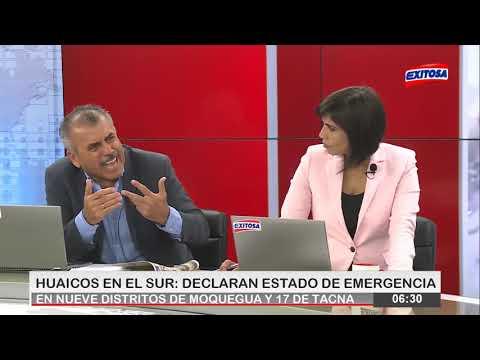 Huaicos en el Sur : Declaran estado de Emergencia en nueve distritos de Moquegua y 17 de Tacna