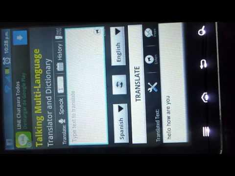 el mejor traductor de idiomas para tu celular  gratis!!!