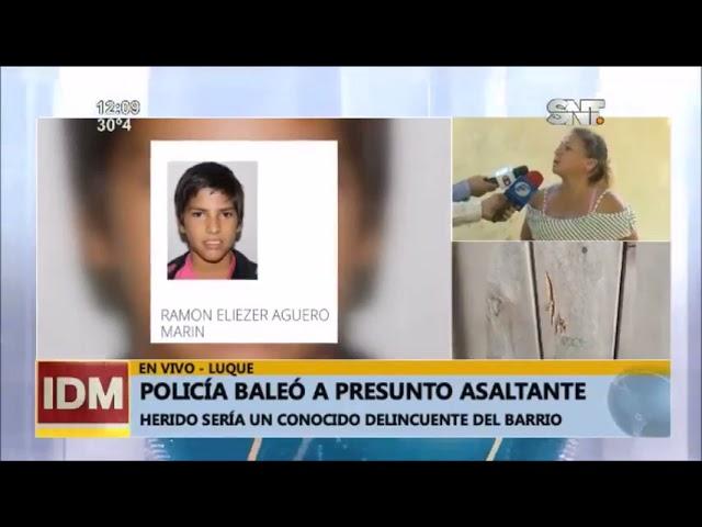👉 Policía baleó a presunto asaltante que ingresó a su vivienda en Luque.