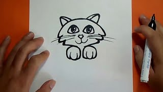 Como dibujar un gato paso a paso 18 | How to draw a cat 18