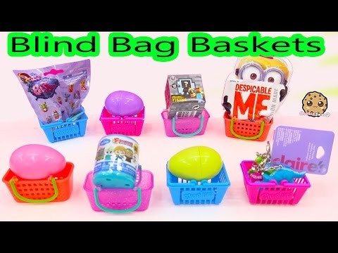Shopkins Baskets Filled With Egg Surprise Toys, Fashems, Minecraft Blind Bags + More - Cookieswirlc