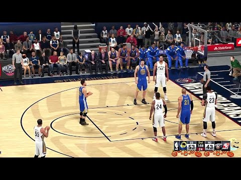 Warriors Basketball 2016 - NBA 2K16 - @ New Orleans Pelicans