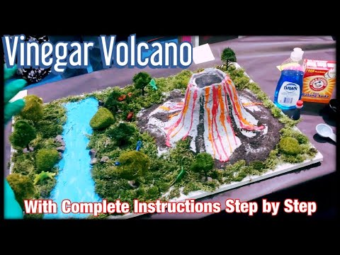 Vinegar Volcano - Fun Science Fair Project by Vanessa