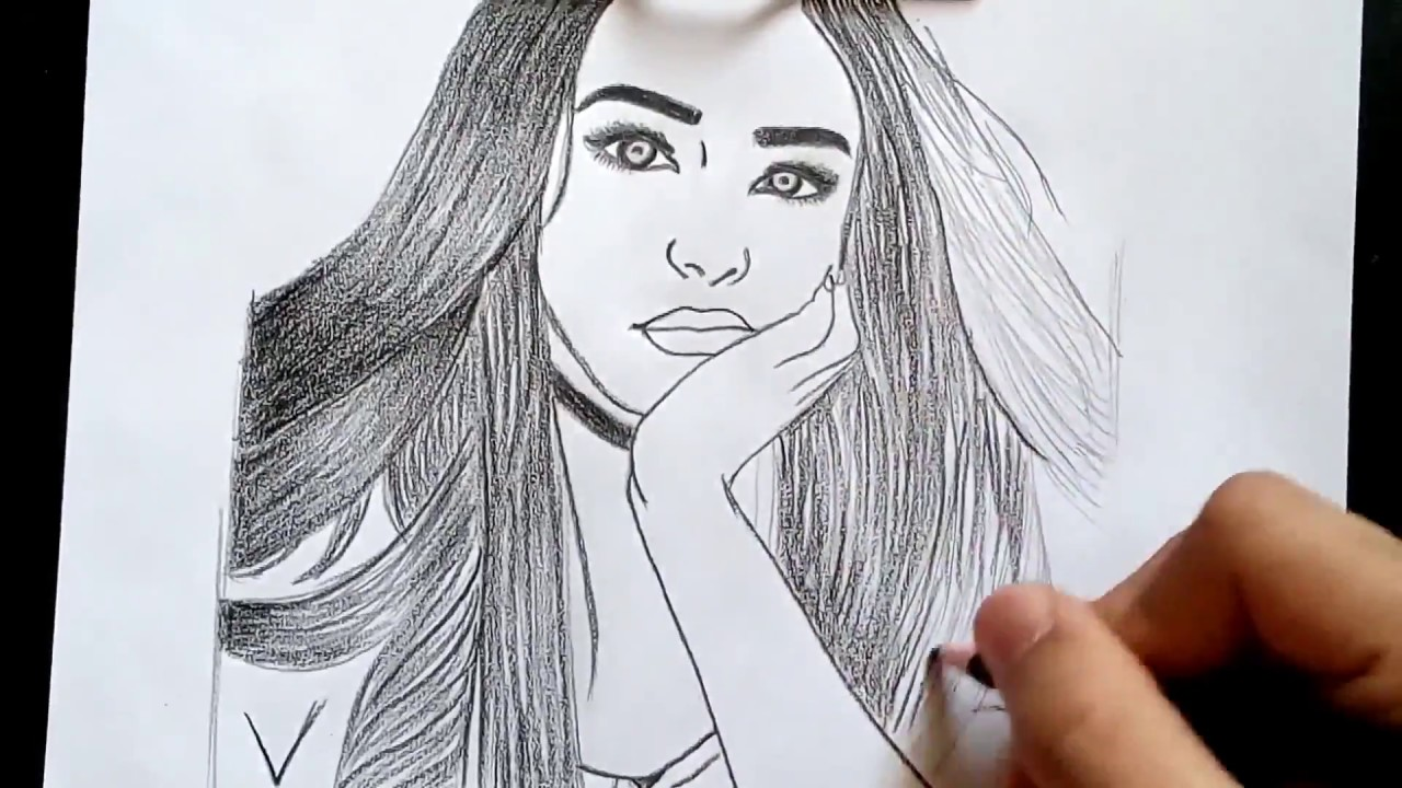 HOW TO DRAW TUMBLR GIRL EASY-3-step by step by anas ...