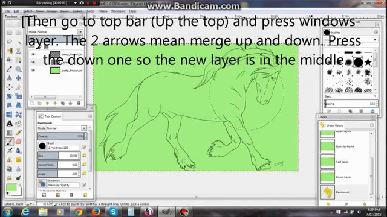 Line Art Using Gimp : How to use a horse lineart on gimp star stable youtube