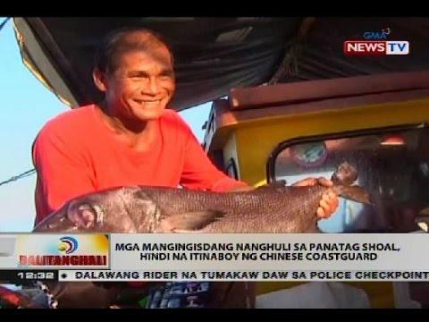 Mga mangingisdang nanghuli sa Panatag Shoal, hindi na itinaboy ng Chinese coastguard