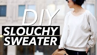 How to Make a Slouchy Sweater (Crew Neck, Raglan Sleeve) | WITHWENDY