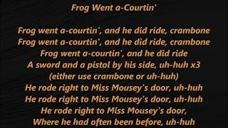 """Video and vocals/instrumentals copyright (c) 2019 by charles elmer szabo, bmi """"frog went a-courtin'"""" (roud 16; see alternative titles) is an english-language..."""