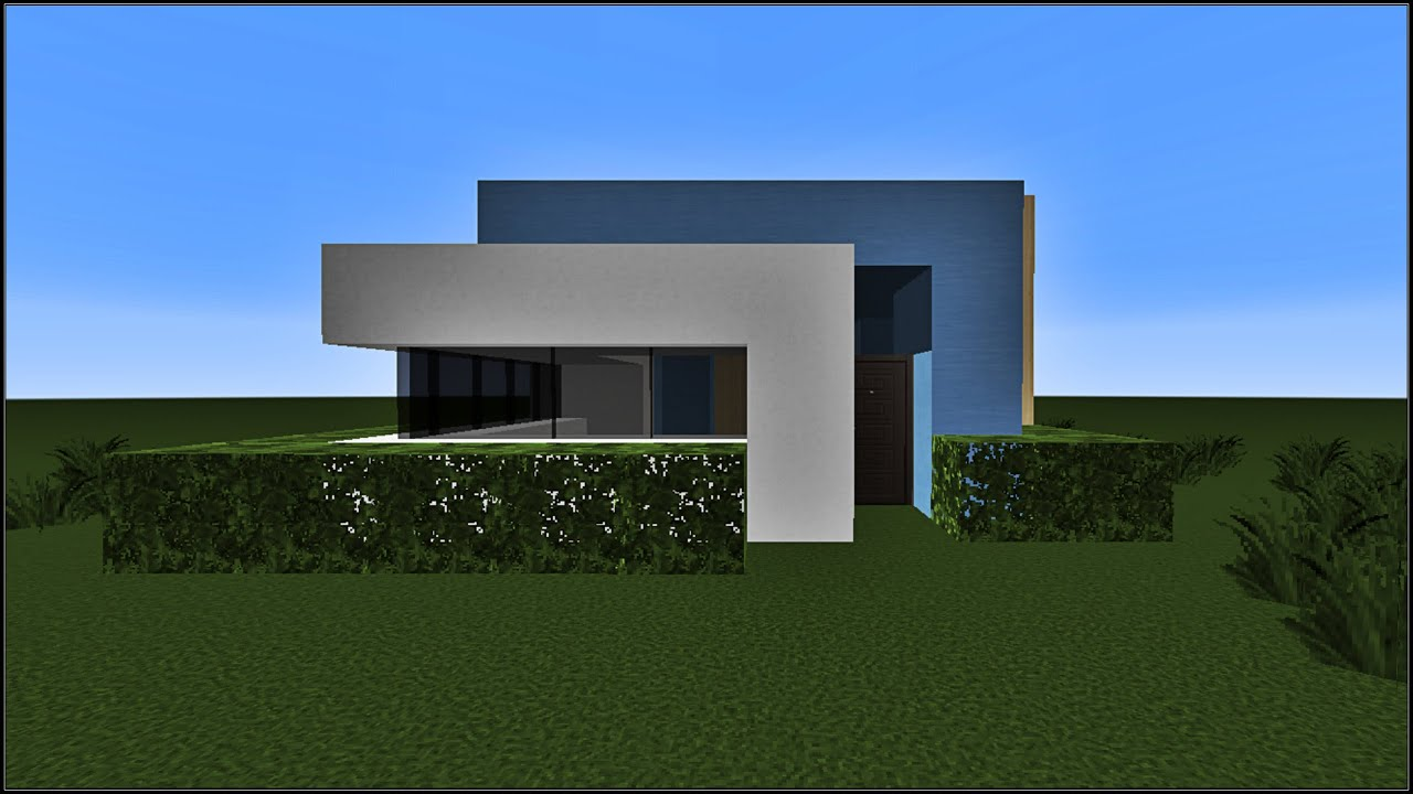 Minecraft tuto construction d 39 une maison moderne youtube for Plan maison minecraft moderne