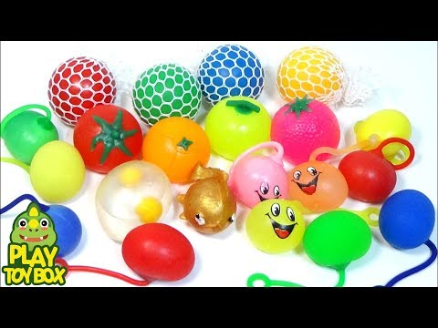 Slime Colors Squishy Stretchy Stress Ball Learn Colors Slime Monster