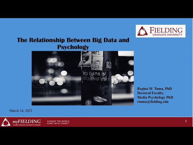 The relationship between Psychology and Big Data and why this matters