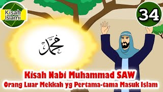 Download Nabi Muhammad SAW part  34 – Orang Luar Mekkah yang Pertama tama Masuk Islam - Kisah Islami Channel