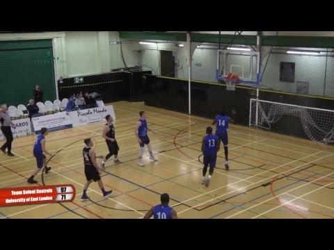 Team Solent Kestrels vs University of East London Div 1 Basketball