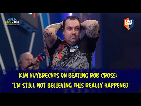 "Kim Huybrechts on beating Rob Cross: ""I'm still not believing this really happened"""