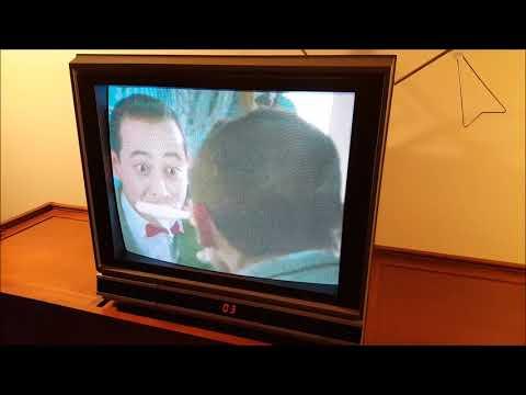 Pee Wee's Big Adventure trailer on a 1988 RCA TV set