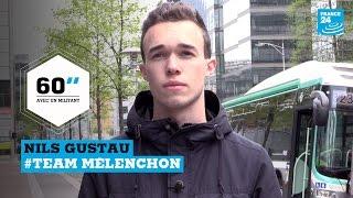 Présidentielle 2017 - 60 secondes avec un militant : Nils, 17 ans, soutien de Jean-Luc Mélenchon