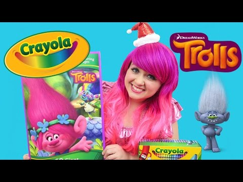 GIANT Trolls Crayola Coloring Book