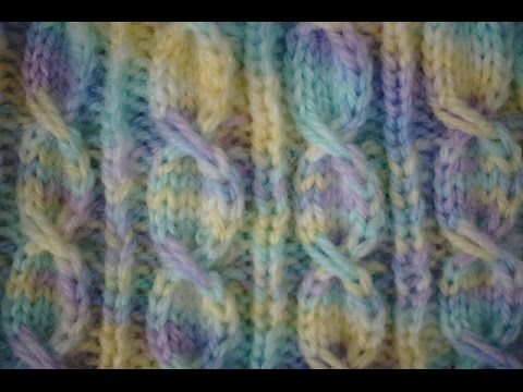 Knit Stitch For Left Handed Beginners : Left Handed Knitting Slipped Stitch Cable Tutorial, and Complementary Baby Ha...