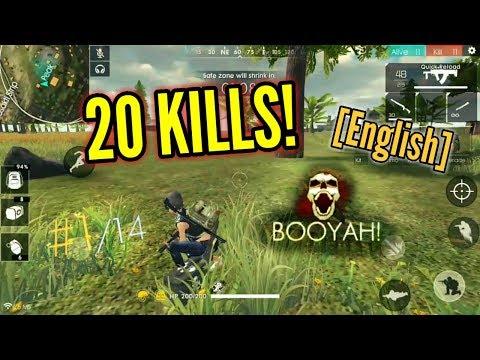SUPER INTENSE GAME! {20 Kills!} (Solo vs Squad) [English] - Free Fire Battlegrounds