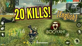 SUPER INTENSE GAME! {20 Kills!} (Solo vs Squad) [English] - Free Fire Battlegrounds
