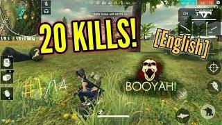 SUPER INTENSE GAME! {20 Kills!} (Solo vs Squad) [English] - Free Fire Baegrounds
