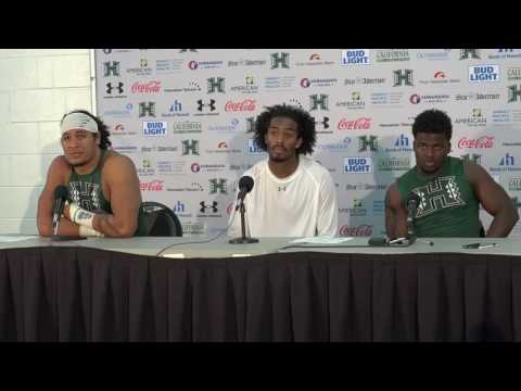 Hawaii Football Post-Game Press Conference Players vs. UT Martin. 9-10-16