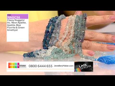 Blue Pearls and Amethyst for jewellery making: JewelleryMaker LIVE 27/03/2015