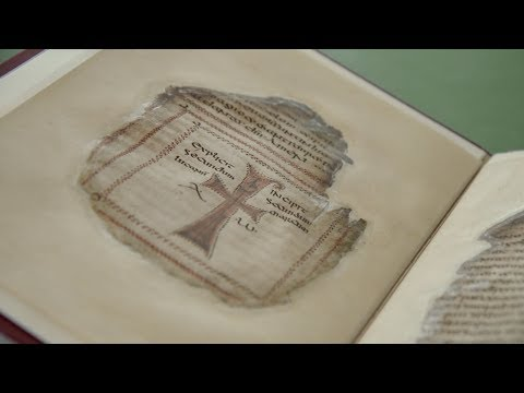Codex Usserianius − one of four precious early Irish manuscripts conserved at Trinity