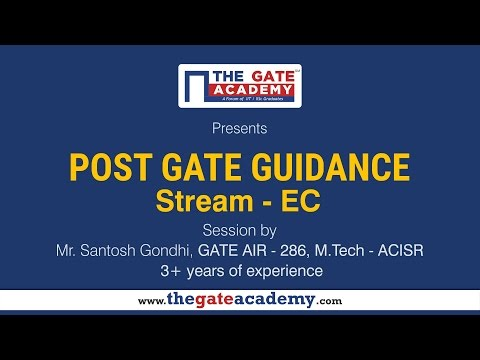 Electronics And Communication Engineering  | Post GATE Guidance For M.Tech In IIT/NIT & PSU Jobs
