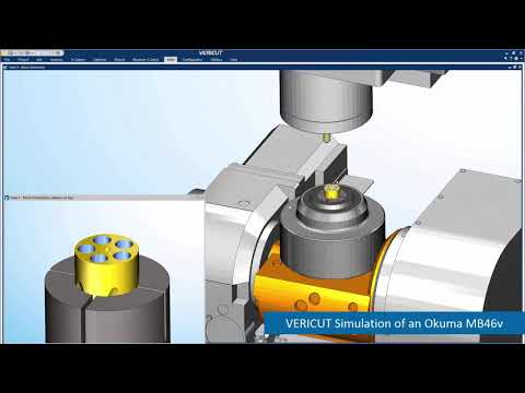 Okuma Machine Tool CNC Simulation with VERICUT