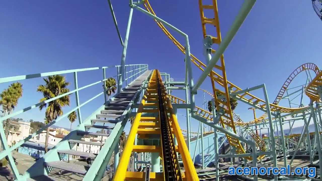 Undertow Spinning Roller Coaster Pov Santa Cruz Beach