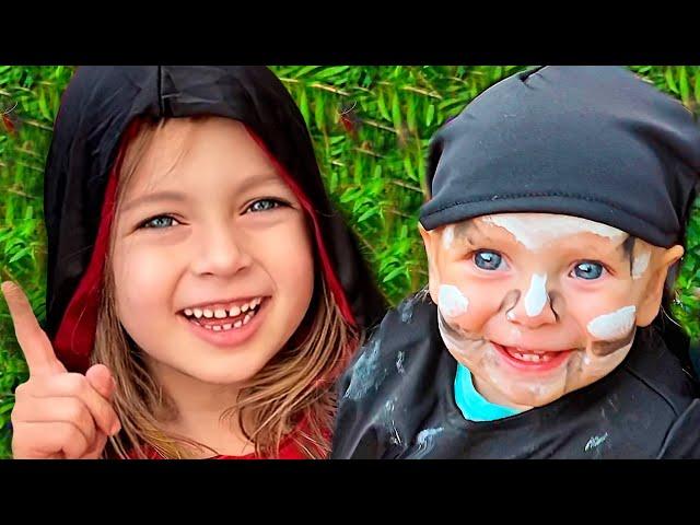 Майя и семья готовятся к празднику Хеллоуин