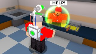 ROBLOX But I COOK PLAYERS.. (Cook Burgers)