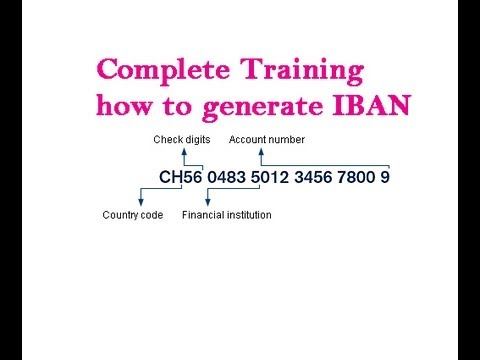 How To Generate International Bank Account Number Iban What Is