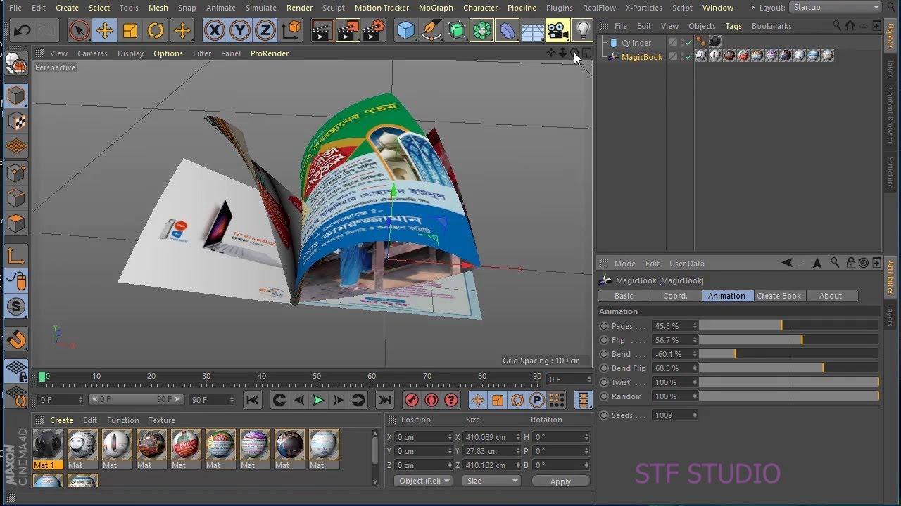 Cinema 4D R19 _ Magic Book _ Bangla Tutorial _ সিনেমা 4 ডি বাংলা টিউটোরিয়াল