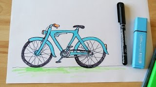 How to Draw a Vintage Bicycle (for kids)