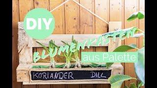 Palettenmöbel: Blumenkasten selber bauen * Palette * Blumenkasten aus Holz selber bauen | DIY